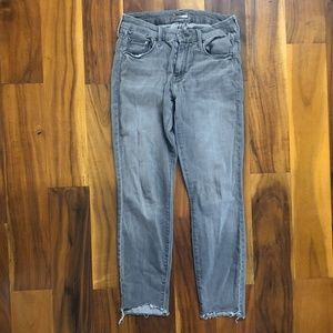 MOTHER Looker Ankle Fray Denim Jeans Size 27